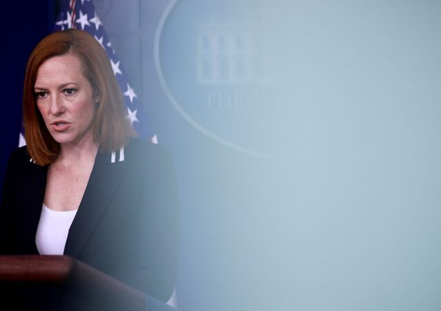White House Press Secretary Jen Psaki delivers remarks during a press briefing at the White House in Washington, U.S., April 21, 2021