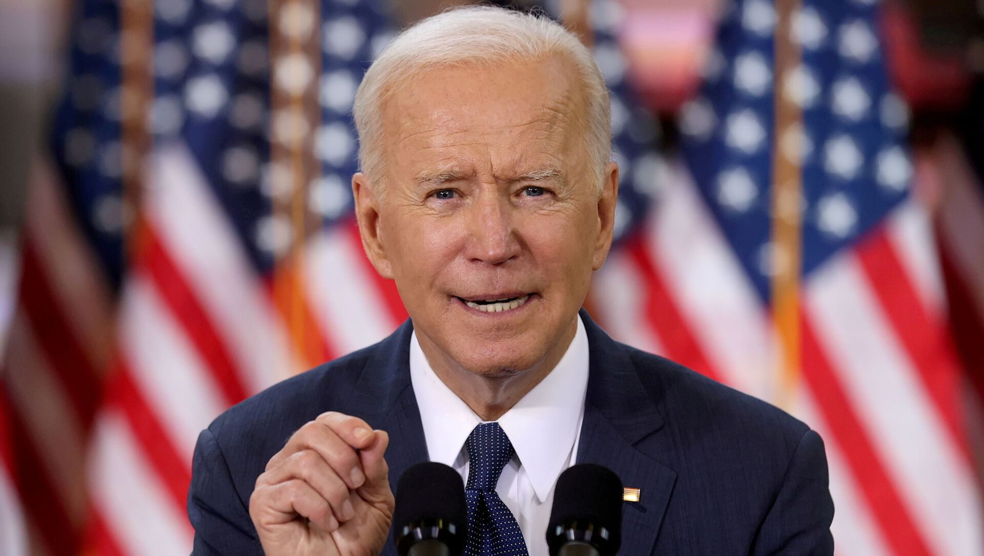 FILE PHOTO: U.S. President Joe Biden speaks about his infrastructure plan during an event to tout the plan at Carpenters Pittsburgh Training Center in Pittsburgh, Pennsylvania, U.S., March 31, 2021.  - Sputnik International, 1920, 30.04.2021
