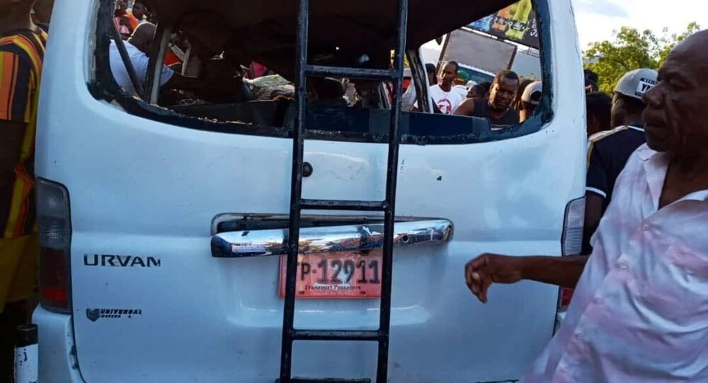 A photo of the bus crash in Haiti occurred on April 28, 2021.