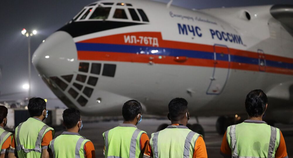 Both planes of the Russian Emergencies Ministry with aid for India, which is hit by an unprecedented outbreak of COVID-19, have landed in New Delhi.