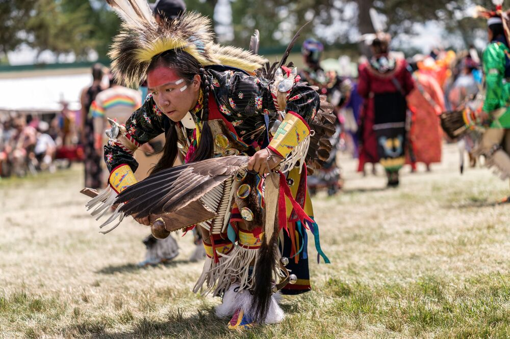 "Prairie Island Indian Community performs Wacipi (Pow Wow). In Dakota language, the word ""Wacipi"" literally means ""they dance."""