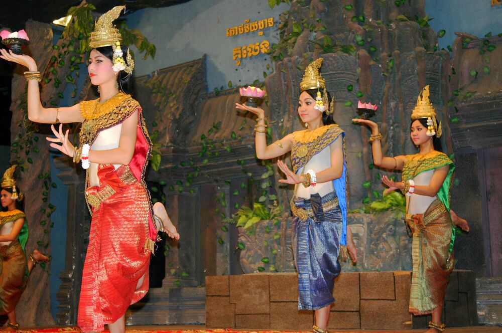 Khmer classical dance is an iconic feature of Cambodian culture.