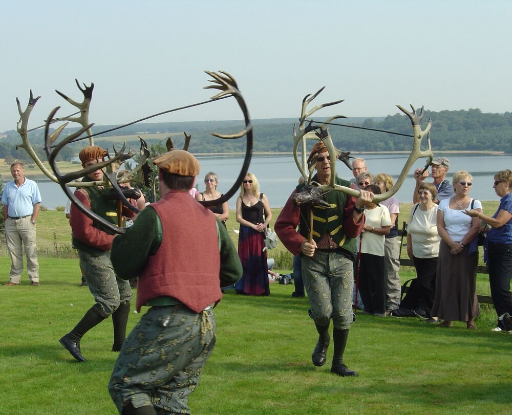 The locals dance above Blithfield Reservoir in Staffordshire, UK, 2006.