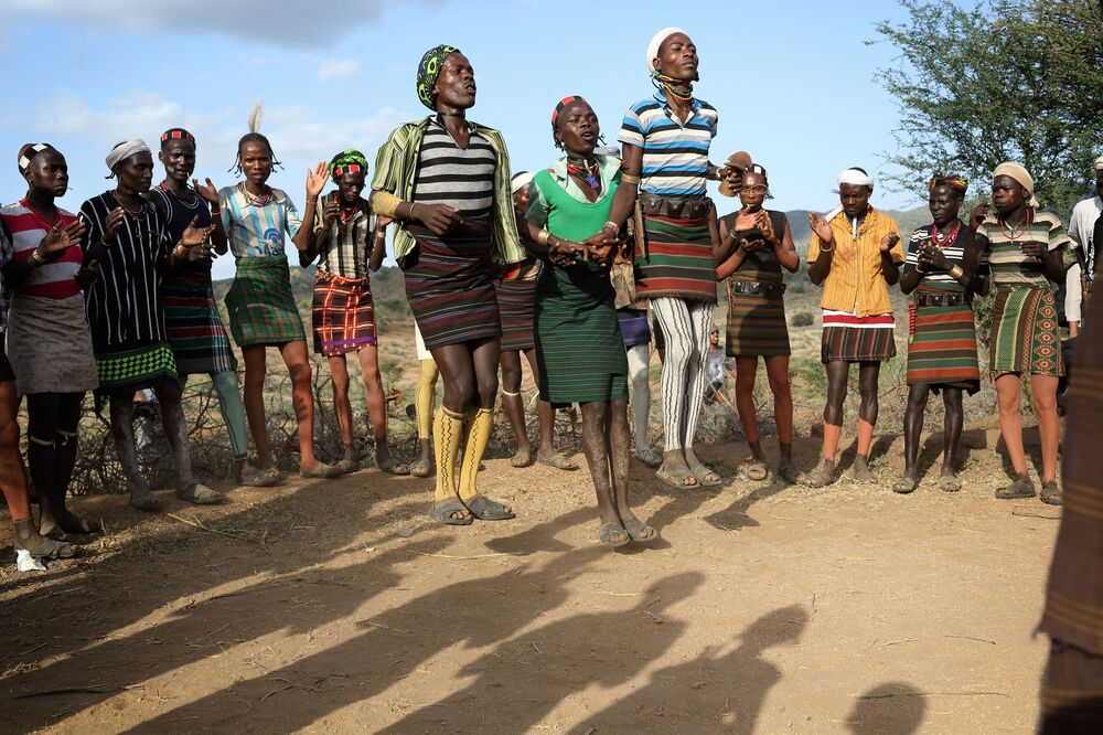 Evangadi Dance, which translates into English as 'night dancing', is a traditional Ethiopian dance among the Hamar people and is deeply rooted in the country's culture.