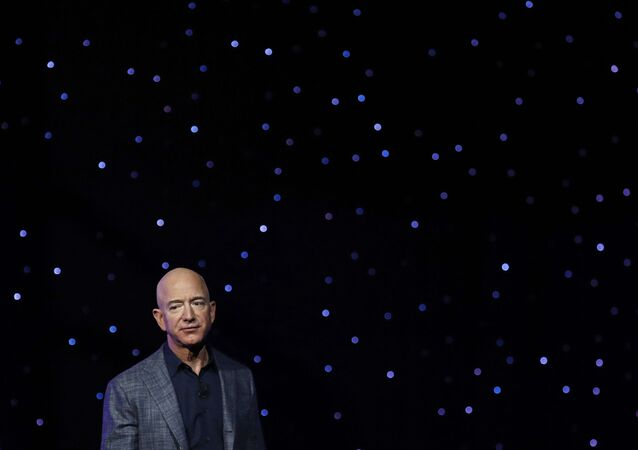 In this May 9, 2019, file photo Jeff Bezos speaks at an event to unveil Blue Origin's Blue Moon lunar lander in Washington. Two U.N. experts this week called for the U.S. to investigate a likely hack of Bezos' phone that could have involved Saudi Arabian Crown Prince Mohammed bin Salman