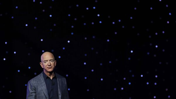 In this May 9, 2019, file photo Jeff Bezos speaks at an event to unveil Blue Origin's Blue Moon lunar lander in Washington. Two U.N. experts this week called for the U.S. to investigate a likely hack of Bezos' phone that could have involved Saudi Arabian Crown Prince Mohammed bin Salman - Sputnik International