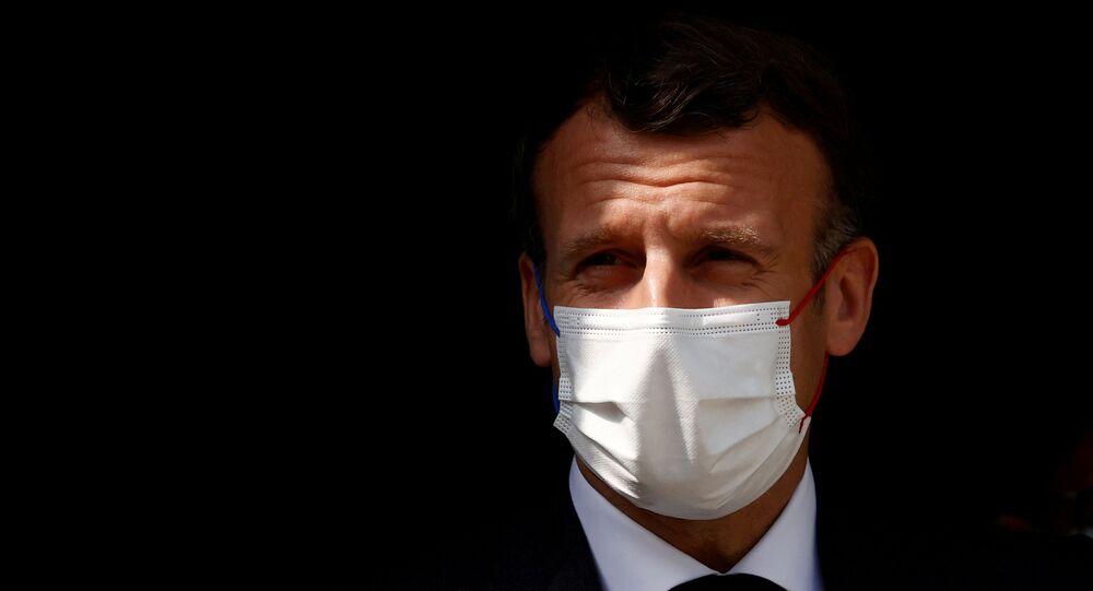 President Emmanuel Macron slapped during visit to southeast France