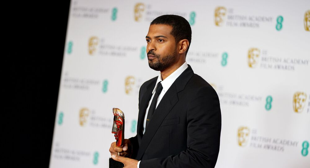 Noel Clarke receives Outstanding British Contribution To Cinema BAFTA award, on the Opening Night show during the 74th British Academy Film Awards in London, Britain, April 10, 2021.