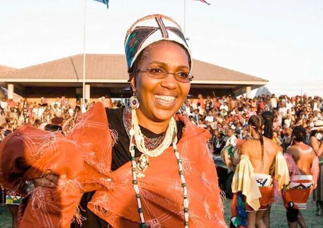 Queen Shiyiwe Mantfombi Dlamini Zulu, pictured in 2004, died on April 30, 2020, at the age of 65. Her death came only one month after she became the traditional ruler of South Africa's Zulu nation following the death of her husband, King Goodwill Zwelithini.