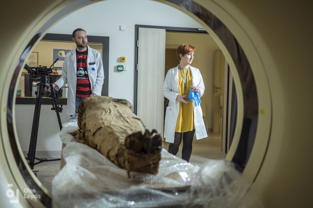 The identity of the pregnant female remains a secret to archaeologists.