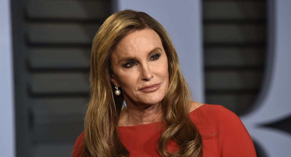 In this Sunday, March 4, 2018 file photo, Caitlyn Jenner arrives at the Vanity Fair Oscar Party on, in Beverly Hills, Calif.