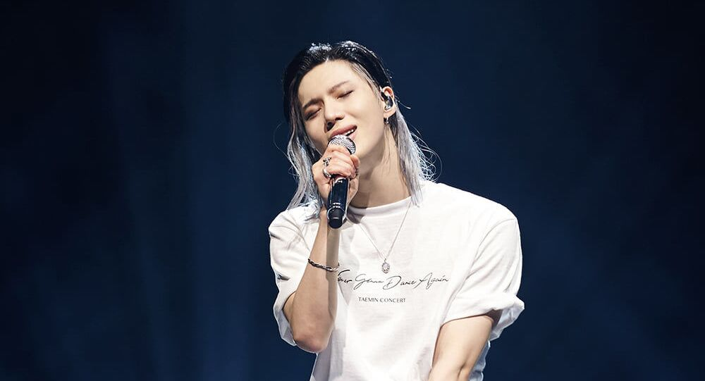 Taemin during his solo concert 'Never Gonna Dance Again'