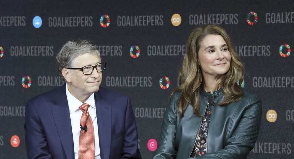 In this file photo taken on September 26, 2018 Bill Gates and his wife Melinda Gates introduce the Goalkeepers event at the Lincoln Center in New York. - Bill Gates, the Microsoft founder-turned philanthropist, and his wife Melinda are divorcing after a 27-year-marriage, the couple said in a joint statement Monday. The announcement from one of the world's wealthiest couples, with an estimated net worth of some $130 billion, was made on Twitter.