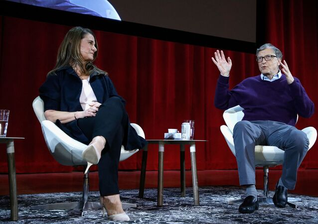 In this file photo taken on February 13, 2018 Melinda Gates and Bill Gates speak during the Lin-Manuel Miranda In conversation with Bill & Melinda Gates panel at Hunter College in New York City. - Bill Gates, the Microsoft founder-turned philanthropist, and his wife Melinda are divorcing after a 27-year-marriage, the couple said in a joint statement Monday. The announcement from one of the world's wealthiest couples, with an estimated net worth of some $130 billion, was made on Twitter.