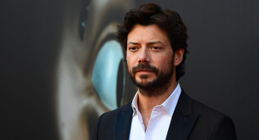 Spanish actor Alvaro Morte poses during a photocall for the presentation of Spanish TV show La Casa de Papel 3rd season  on July 11, 2019 in Madrid.