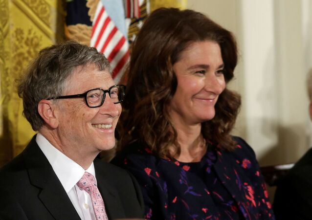 Bill and Melinda Gates attend the Presidential Medals of Freedom ceremonies  in the East Room of the White House in Washington, U.S