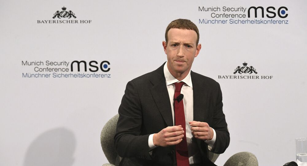 The founder and CEO of Facebook Mark Zuckerberg speaks during the 56th Munich Security Conference (MSC) in Munich, southern Germany, on February 15, 2020. - The 2020 edition of the Munich Security Conference (MSC) takes place from February 14 to 16, 2020.