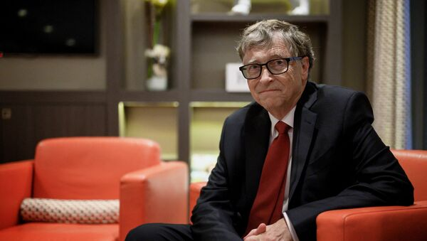 US Microsoft founder, Co-Chairman of the Bill & Melinda Gates Foundation, Bill Gates, poses for a picture on October 9, 2019, in Lyon, central eastern France, during the funding conference of Global Fund to Fight AIDS, Tuberculosis and Malaria.  - Sputnik International
