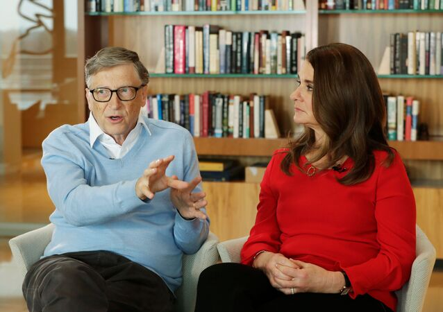 In this Feb. 1, 2018, file photo, Microsoft co-founder Bill Gates and his wife Melinda take part in an AP interview in Kirkland, Wash