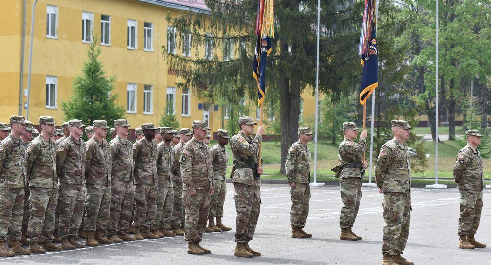 US troops in Lviv, western Ukraine.