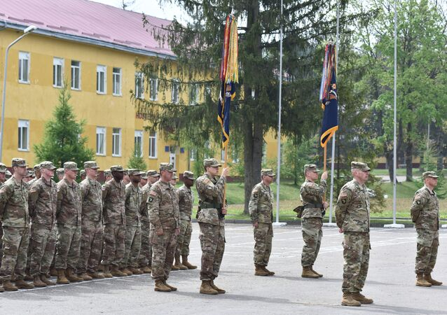 US troops in Lviv, western Ukraine.
