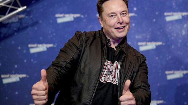 In this Tuesday, Dec. 1, 2020 file photo, SpaceX owner and Tesla CEO Elon Musk arrives on the red carpet for the Axel Springer media award, in Berlin, Germany - Sputnik International