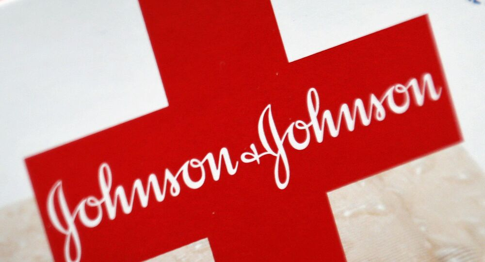This Oct. 16, 2012 file photo shows the Johnson & Johnson logo on a package of Band-Aids, in St. Petersburg, Fla.