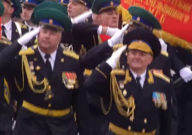 Members of the FSB's Moscow Border Institute are on Red Square