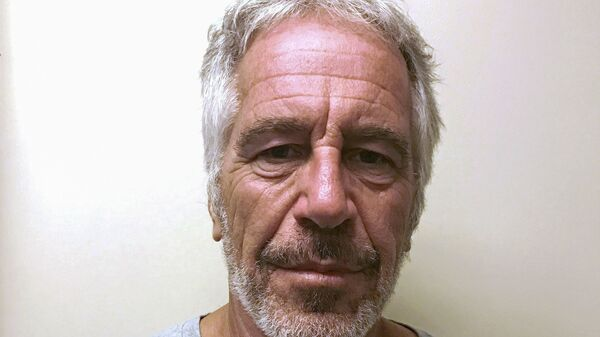 U.S. financier Jeffrey Epstein appears in a photograph taken for the New York State Division of Criminal Justice Services' sex offender registry March 28, 2017 and obtained by Reuters July 10, 2019. - Sputnik International