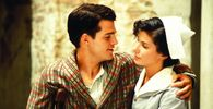 In Love and War (1996). The film based on Hemingway's  Farewell to Arms tells a story about an American soldier and nurse who fall in love with each other during the Italian campaign of the First World War. The nurse is played by Sandra Bullock, pictured with Chris O'Donnell.