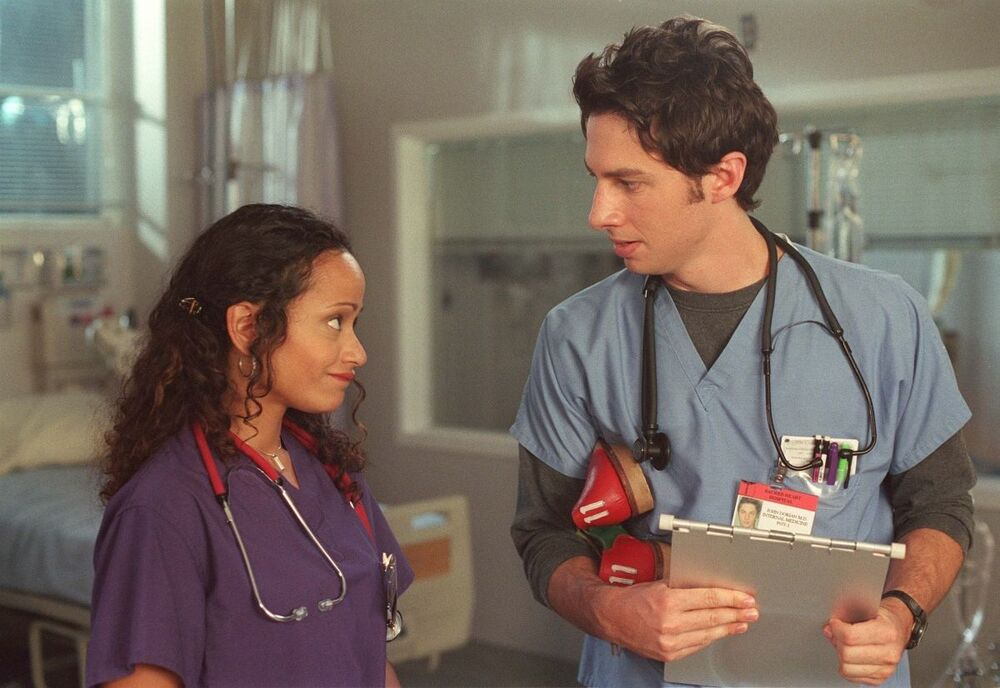 Scrubs (2001 - 2009). Judy Reyes stars as Carla Espinosa, the hospital's head nurse in the iconic television series.