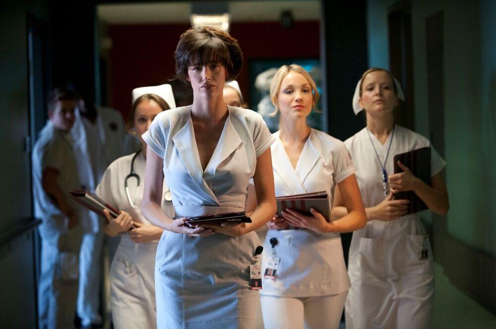 Nurse 3D (2013). An American erotic horror film starring Paz de la Huerta, Katrina Bowden, and Corbin Bleu, about a serial killer nurse Abby Russell (De la Huerta) who is sick of men cheating on their girlfriends.