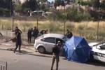 Screengrab from video of a ramming attack targeting Israeli police.