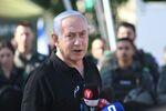 Israeli Prime Minister Benjamin Netanyahu speaks during meeting with Israeli border police following violence in the Arab-Jewish town of Lod, Israel May 13, 2021.