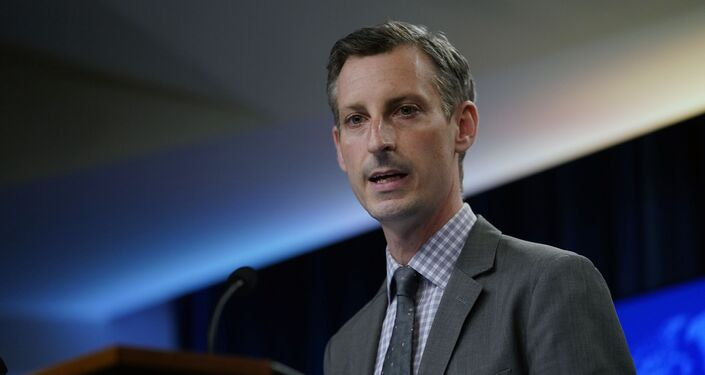 State Department spokesman Ned Price speaks at the State Department in Washington, Wednesday, March 31, 2021.