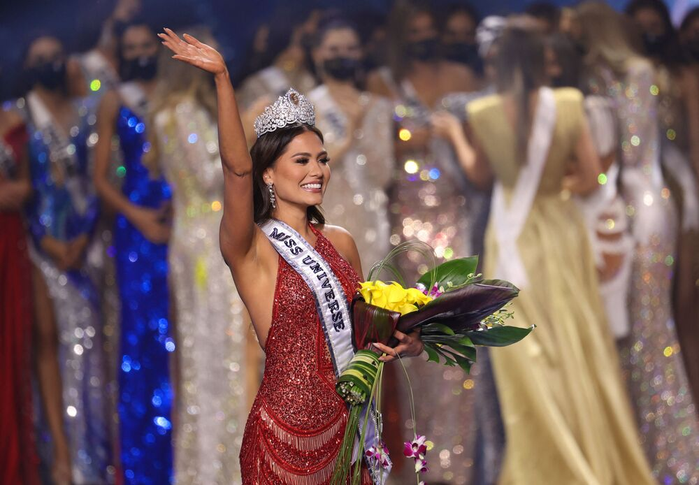 Miss Mexico Andrea Meza is crowned Miss Universe 2021 at Seminole Hard Rock Hotel & Casino in Hollywood, Florida.