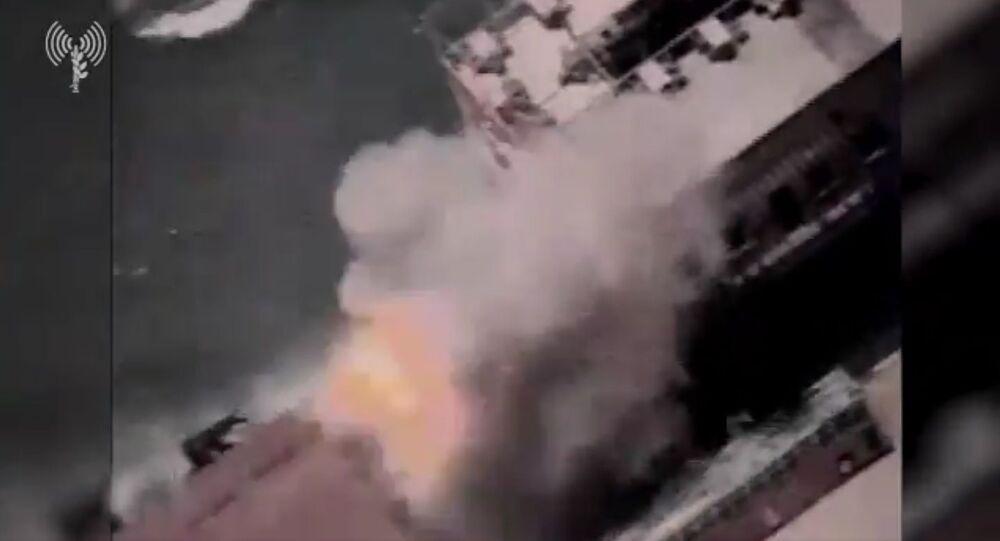 Screengrab of IDF footage of attack on Gaza Coast.