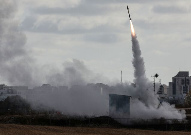 Israel's Iron Dome anti-missile system fires to intercept a rocket launched from the Gaza Strip towards Israel, as seen from Ashdod, Israel May 17, 2021