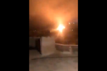 Screenshot from a video allegedly showing the IDF responding to rocket fire in the area of Misgav Am, in the northern part of Israel