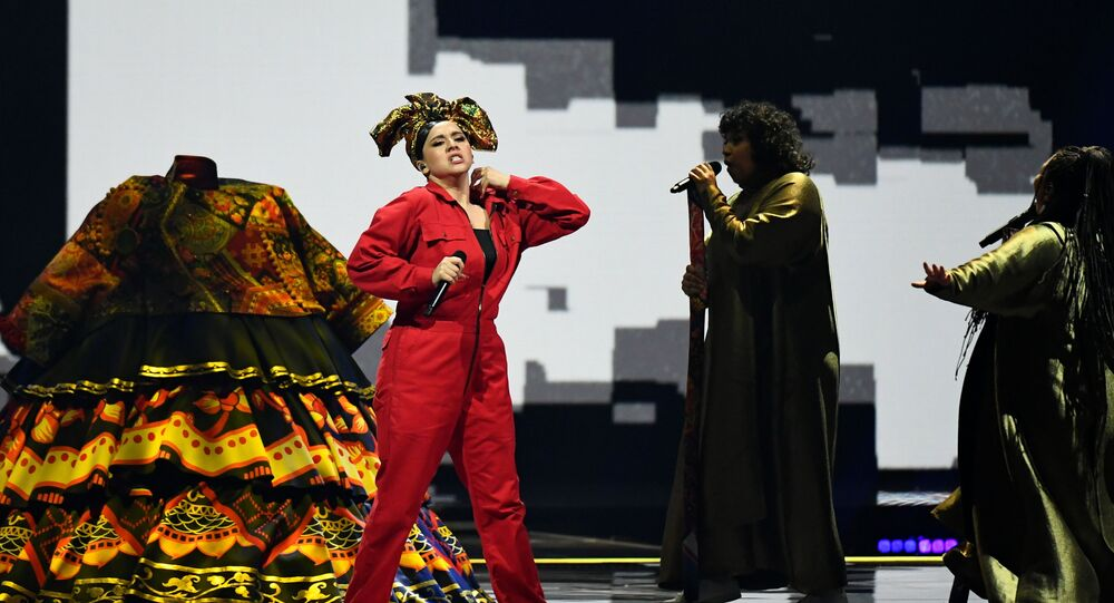 Participant Manizha of Russia performs during first semi-final of the 2021 Eurovision Song Contest in Rotterdam, Netherlands May 18, 2021