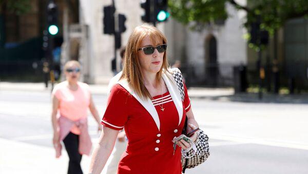 FILE PHOTO: British Labour Party deputy leader Angela Rayner is seen outside parliament in London - Sputnik International