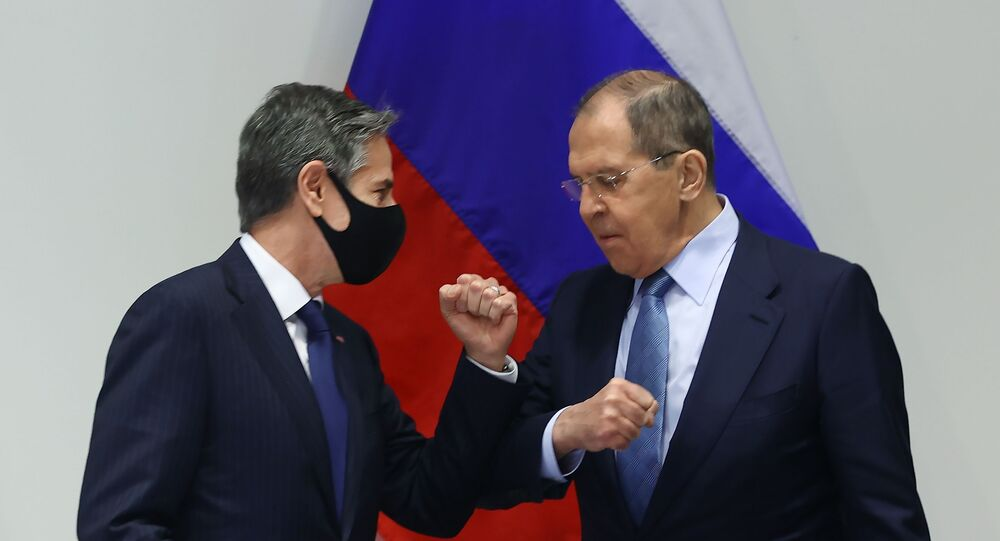 Russian Foreign Minister Sergey Lavrov meets US State Secretary Antony Blinken in Iceland's capital city of Reykjavic