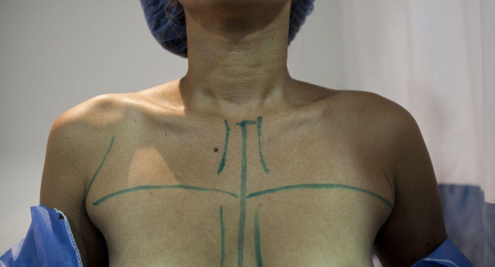 A woman in Venezuela prepared for breast augmentation surgery