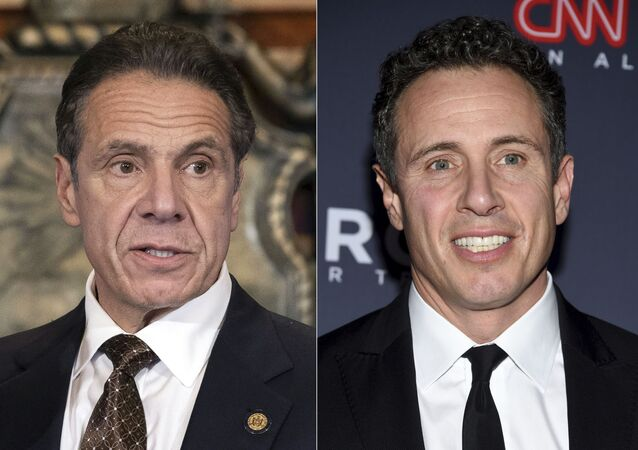 """New York Gov. Andrew M. Cuomo appears during a news conference about the COVID-19at the State Capitol in Albany, N.Y., on Dec. 3, 2020, left, and CNN anchor Chris Cuomo attends the 12th annual CNN Heroes: An All-Star Tribute at the American Museum of Natural History in New York on Dec. 9, 2018. CNN said Thursday, May 20, 2021 it was """"inappropriate"""" for anchor Chris Cuomo to have been involved in phone calls with the staff of his brother, New York Gov. Andrew Cuomo, where strategies on how the governor should respond to sexual harassment allegations were allegedly discussed."""