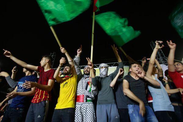 How Gazans Reacted to Israel-Hamas Ceasefire - Sputnik International
