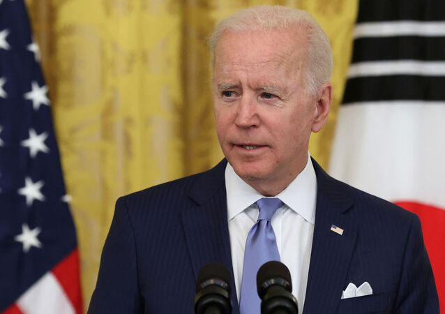 U.S. President Joe Biden speaks during a joint news conference with South Korea's President Moon Jae-in (not pictured) after a day of meetings at the White House, in Washington, U.S. May 21, 2021