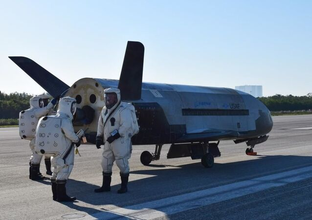 The Air Force's X-37B Orbital Test Vehicle mission 4 landed at NASA 's Kennedy Space Center Shuttle Landing Facility May 7, 2017.