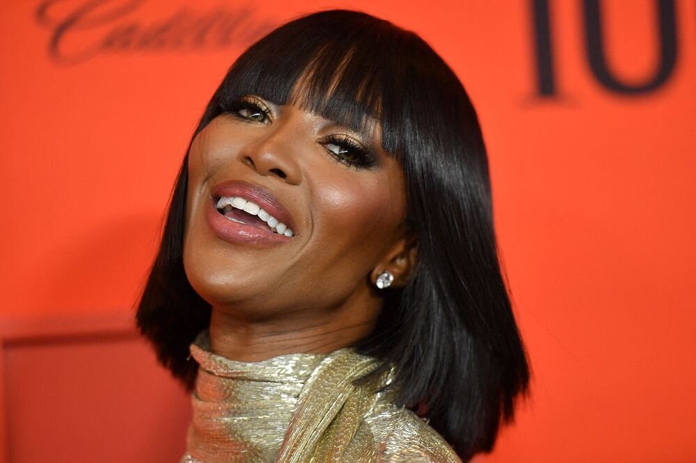British model Naomi Campbell poses on the red carpet during the Time 100 gala at Lincoln Centre in New York on 23 April 2019