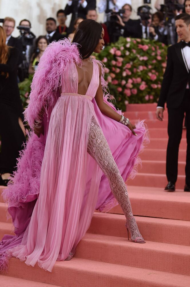 Naomi Campbell visits the Met Gala in New York City, 2019