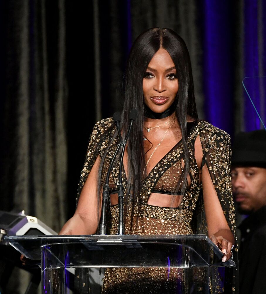 Naomi Campbell onstage at the American Icon Awards at a Four Seasons hotel in Beverly Wilshire, 9 May 2019